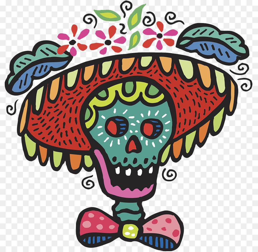 Calavera Day Of The Dead Human Skull Symbolism Clip Art