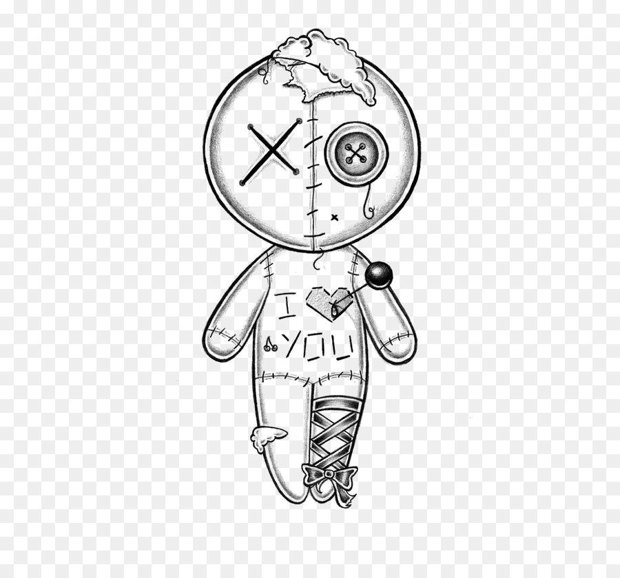 Dibujo de muñeco Vudú de Croquis - Pintado a mano de la muñeca ...