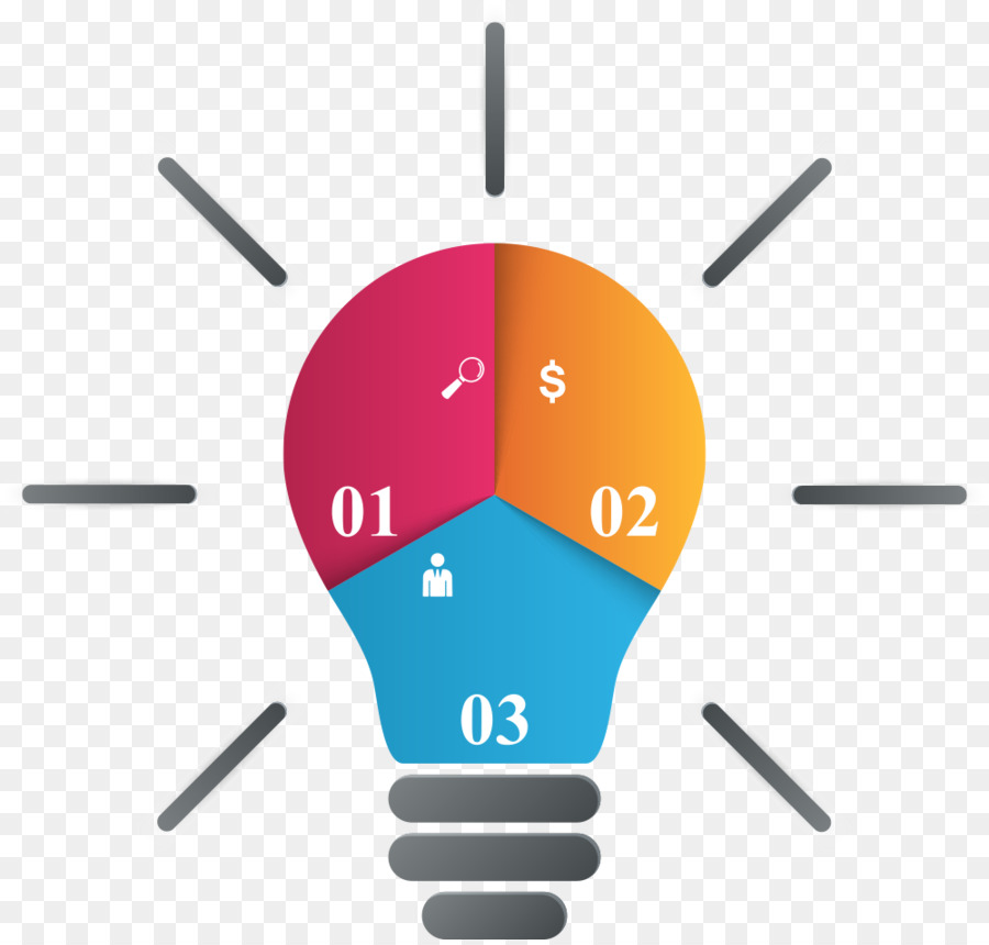 Infographic Chart Vector Color Bulb Chart Png Download 1000950