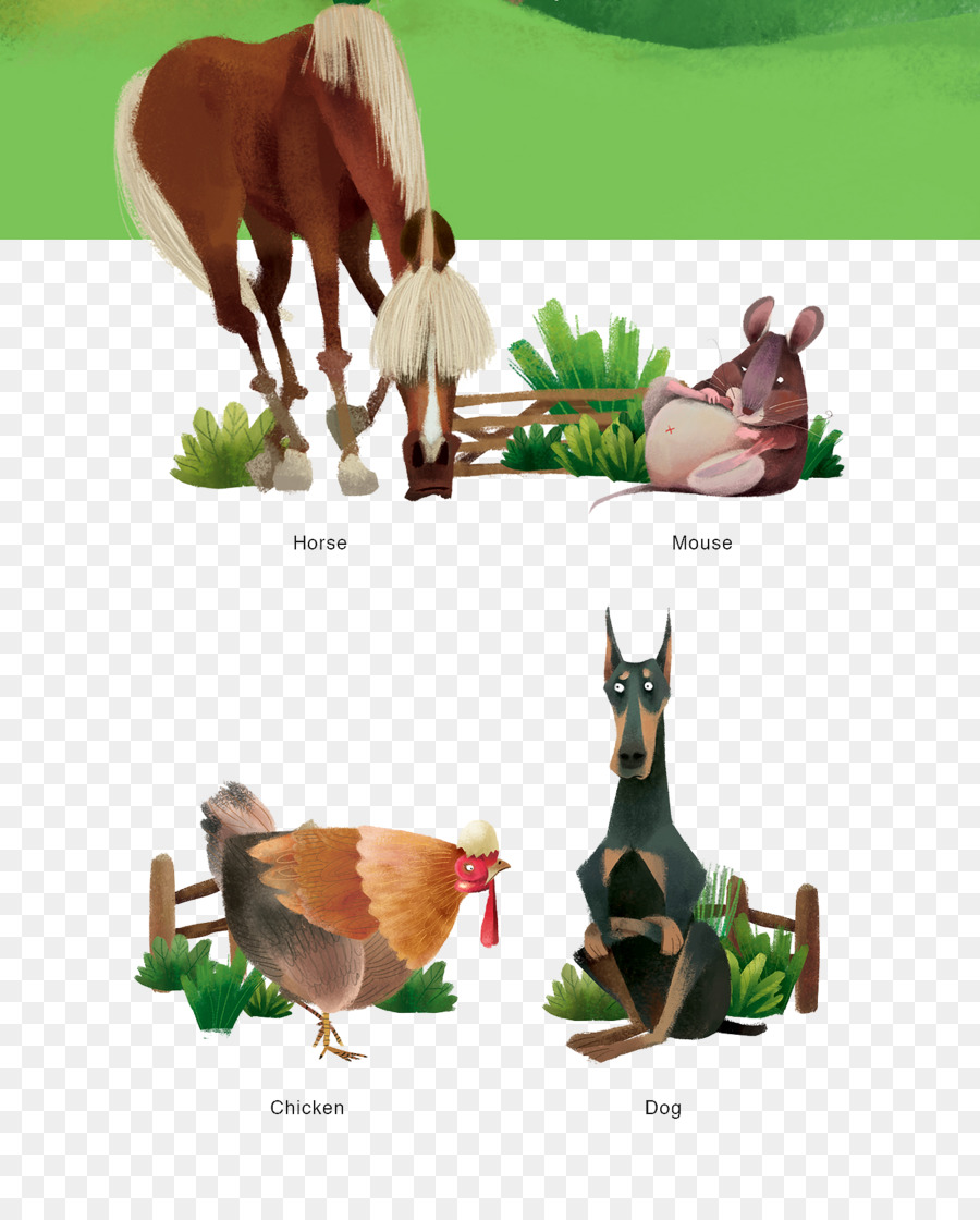 Horse Cartoon Illustration - Mouse painted horse cock dog png download -  1400*1718 - Free Transparent Horse png Download.