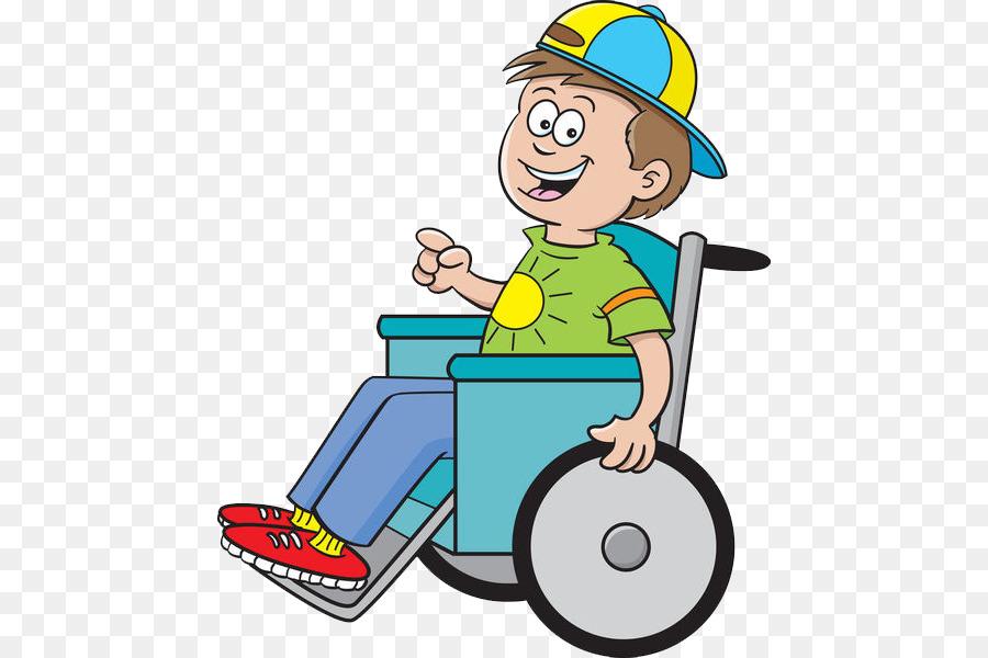 Silla de ruedas de dibujos animados de ni o de la ilustraci n un ni o paral tico png dibujo - Silla de ruedas ninos ...