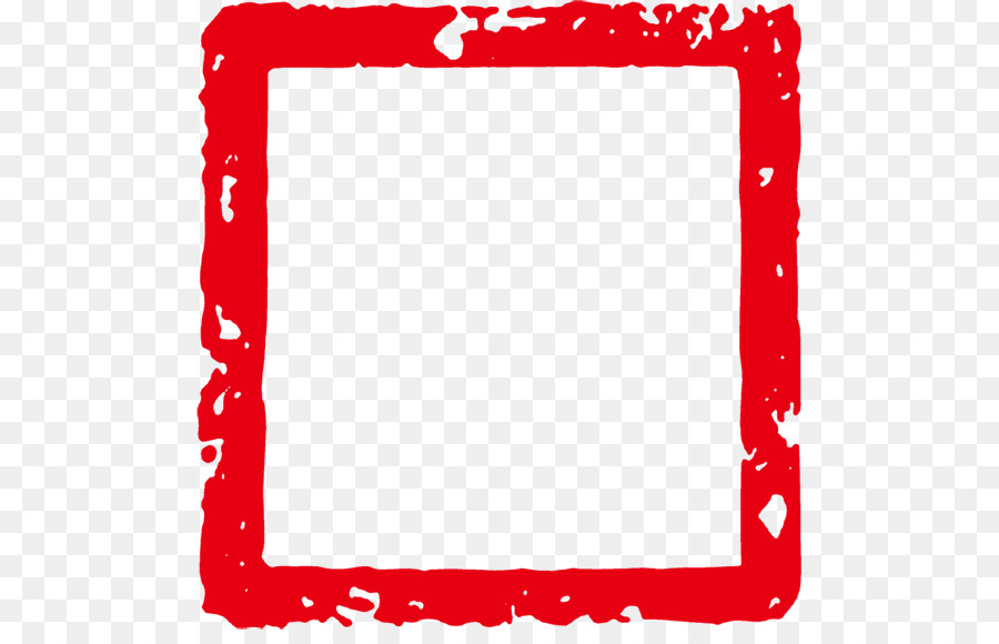 China Red Clip art - Red seal frame png download - 545*567 - Free ...