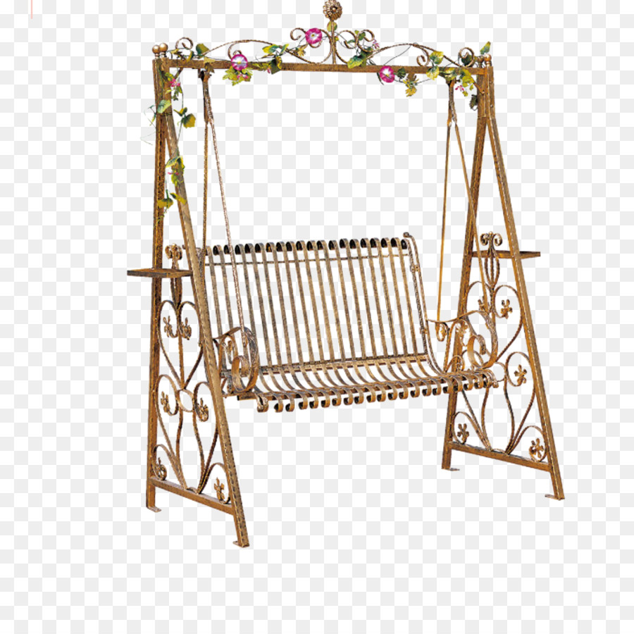 Rocking Chair Swing Wrought Iron Garden Furniture   Garden Rocking Chair