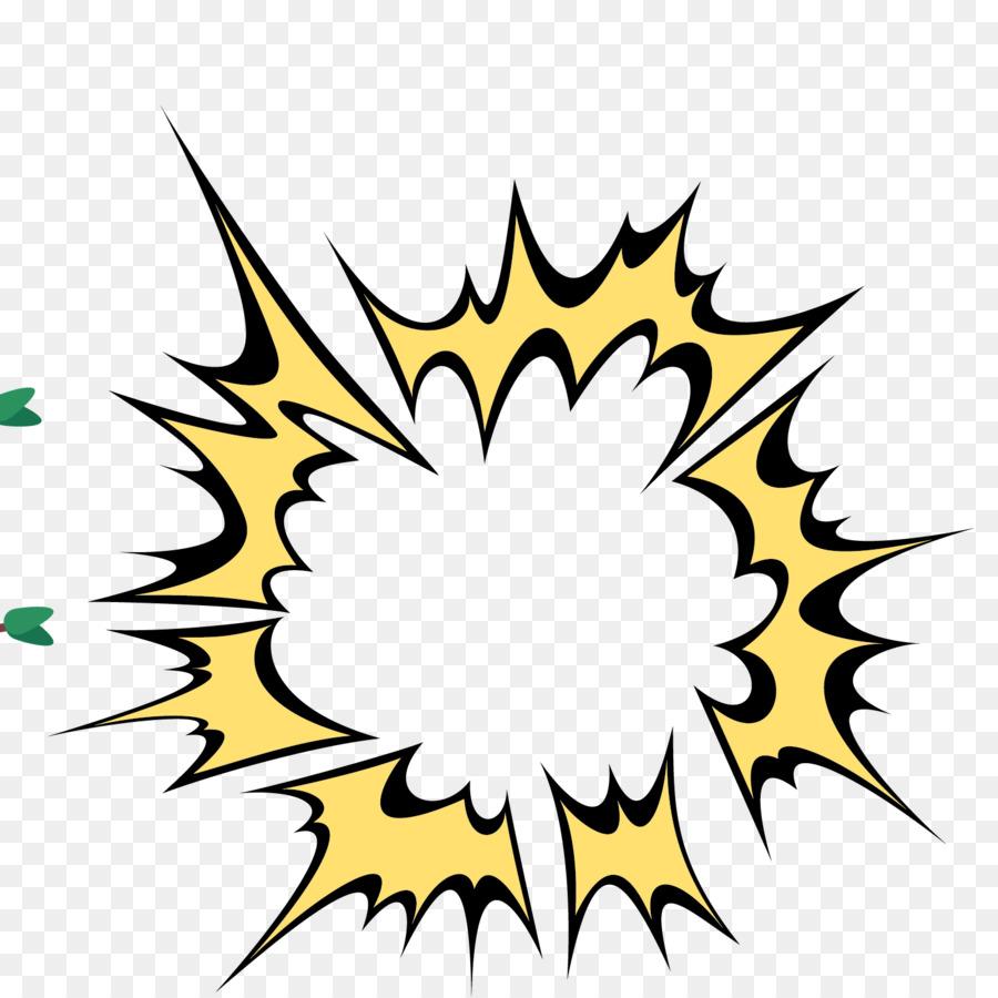 speech balloon cartoon explosion - yellow explosion png download - 1500 1500