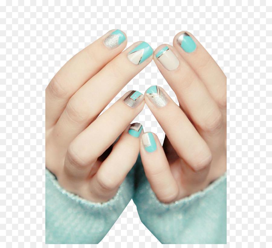 Nail art Artificial nails Gel nails - Fresh nail pattern png ...
