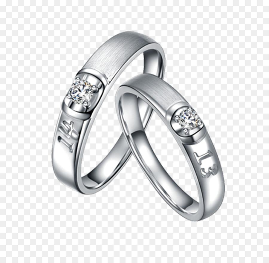 Wedding Ring Couple Silver