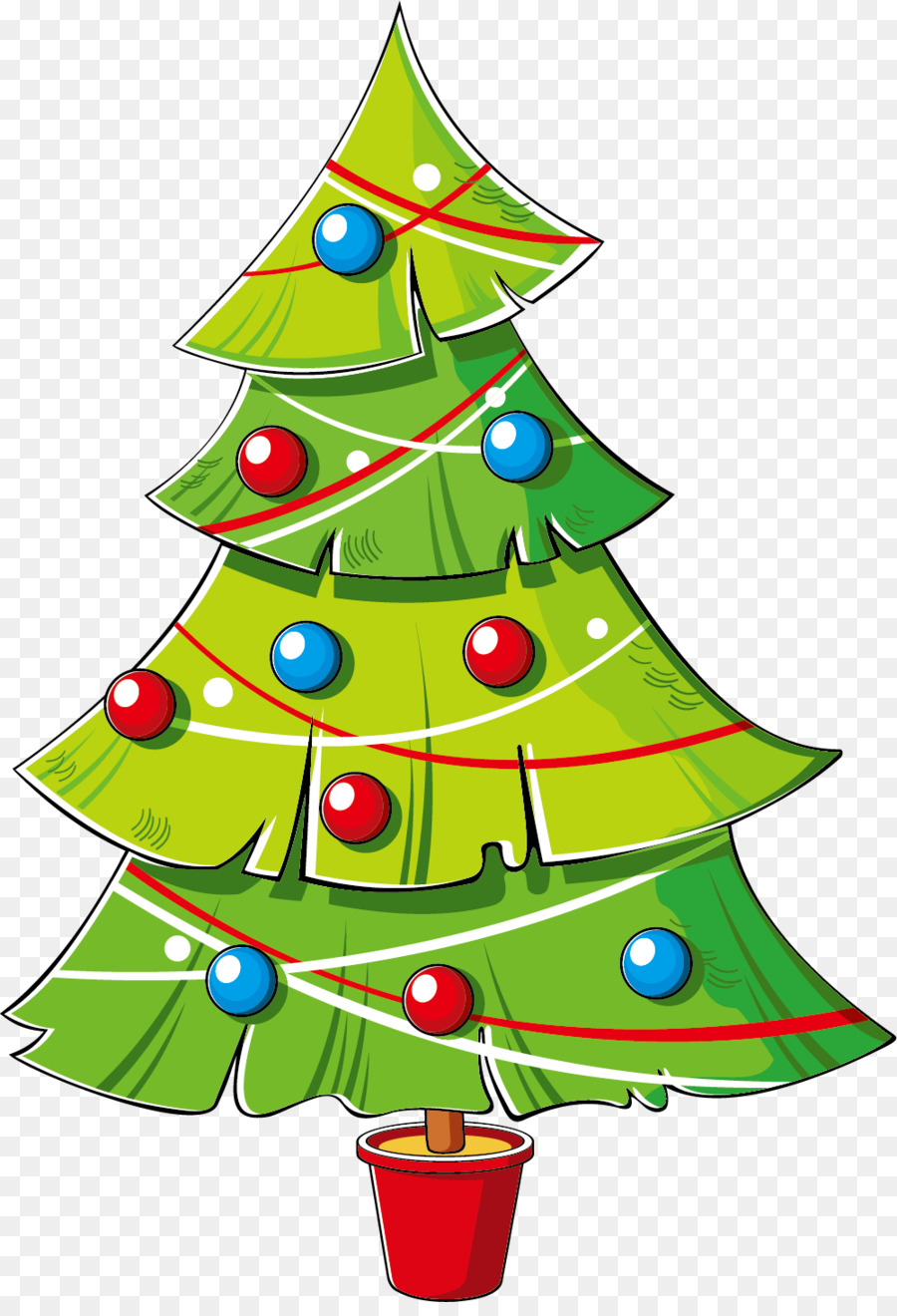 Christmas tree cartoon. Animation png download free