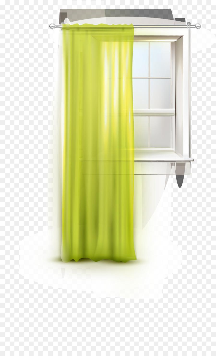 Fenster Vorhang Grün Designer Fenster Vorhänge Png Herunterladen