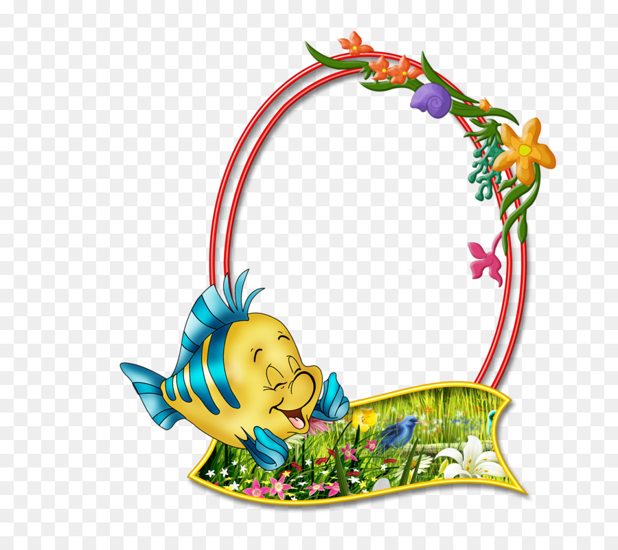 Picture frame Photography Clip art - Cartoon fish decoration png ...
