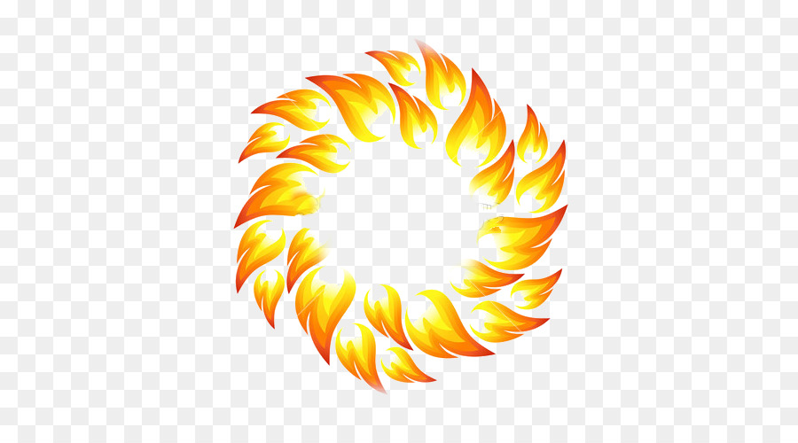 Flame circle. Ring of fire png