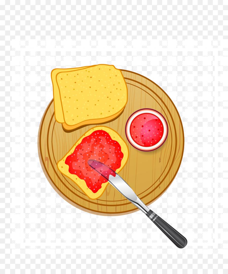 Roti Panggang Selai Sarapan Gelatin Dessert Strawberry