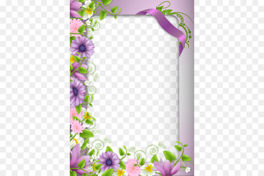 Borders and Frames Border Flowers Picture frame Clip art - Purple ...
