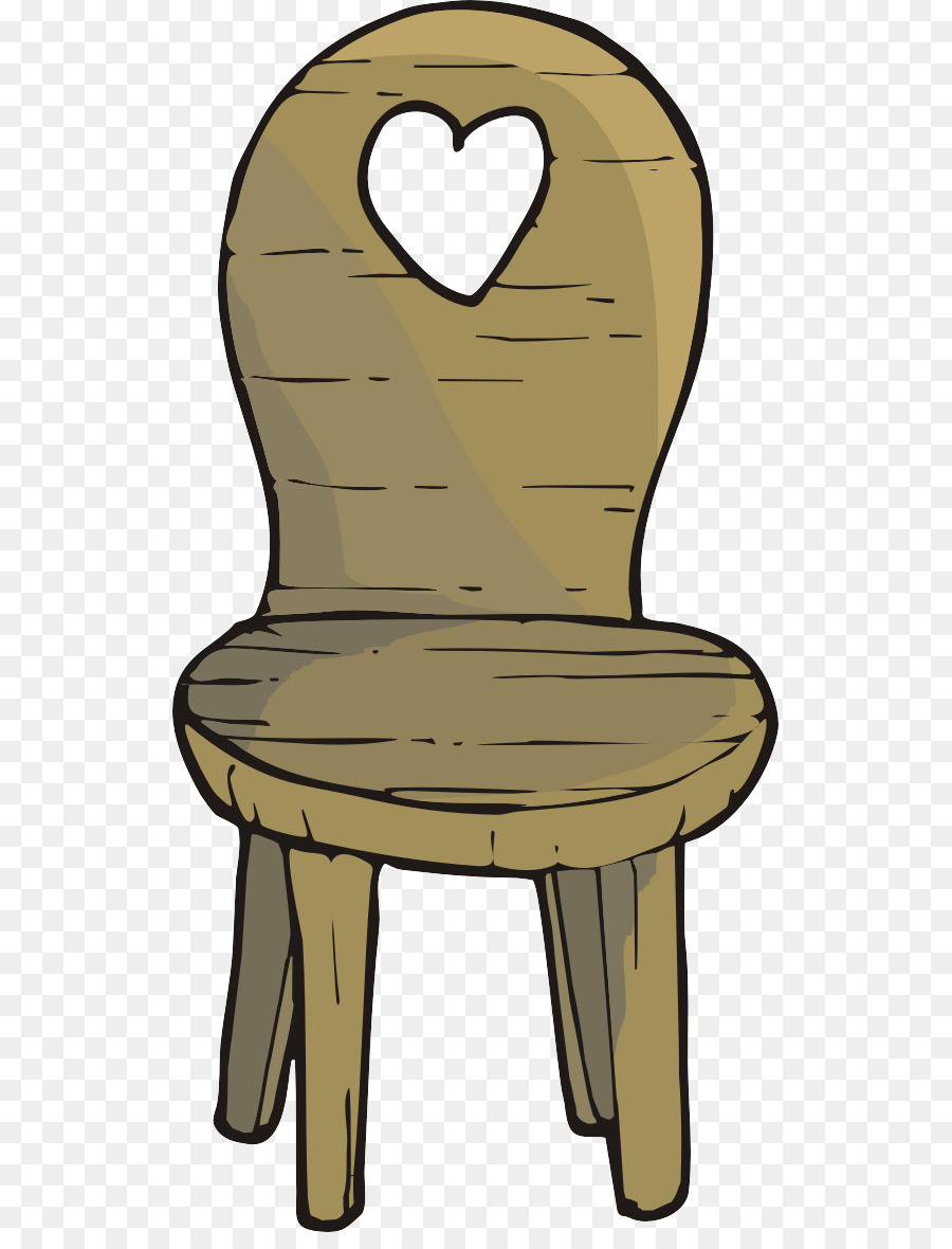 Chair Table Cartoon   Cartoon Heart Shaped Chair