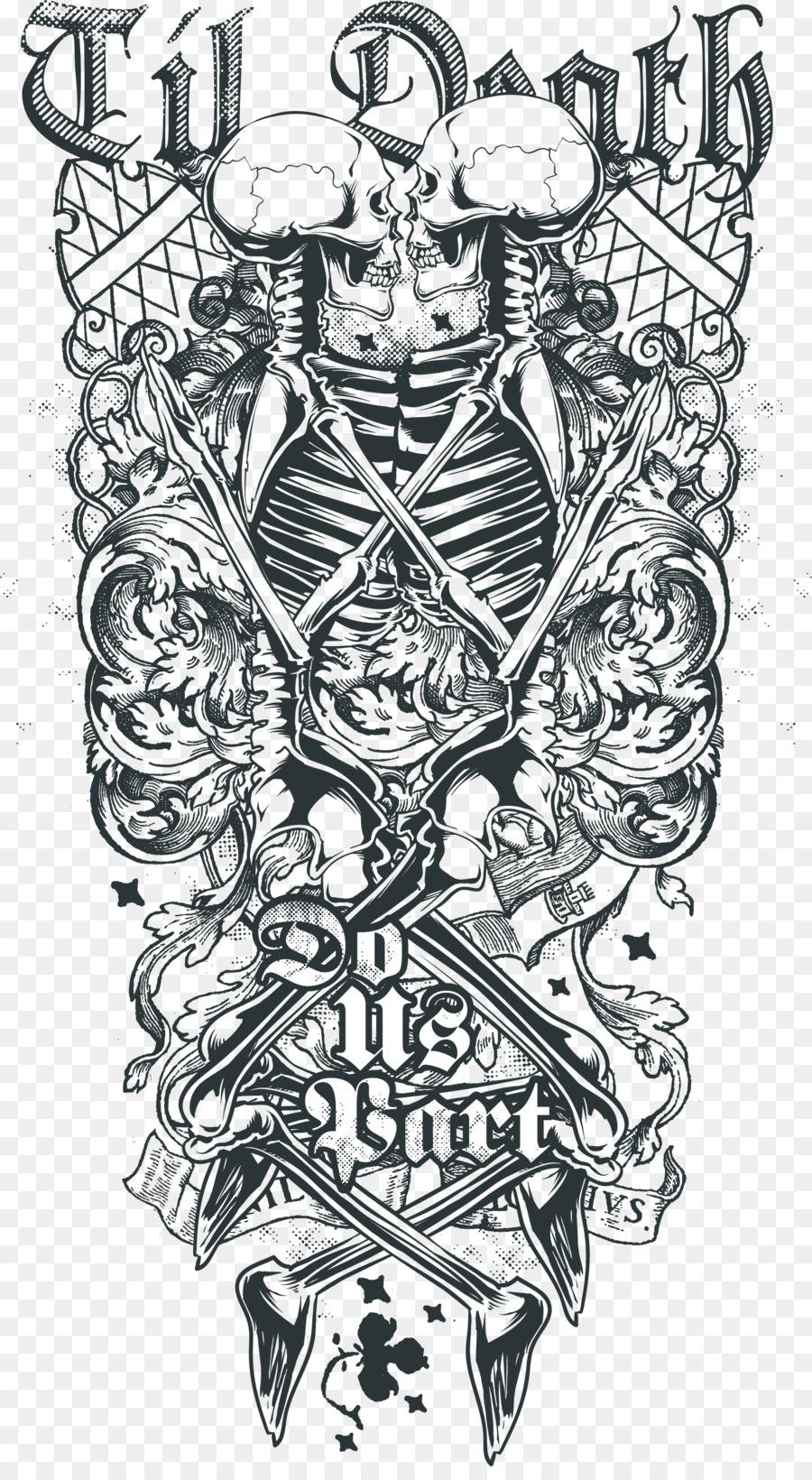 death sleeve tattoo abziehtattoo human skull symbolism depending on the printing of skull. Black Bedroom Furniture Sets. Home Design Ideas