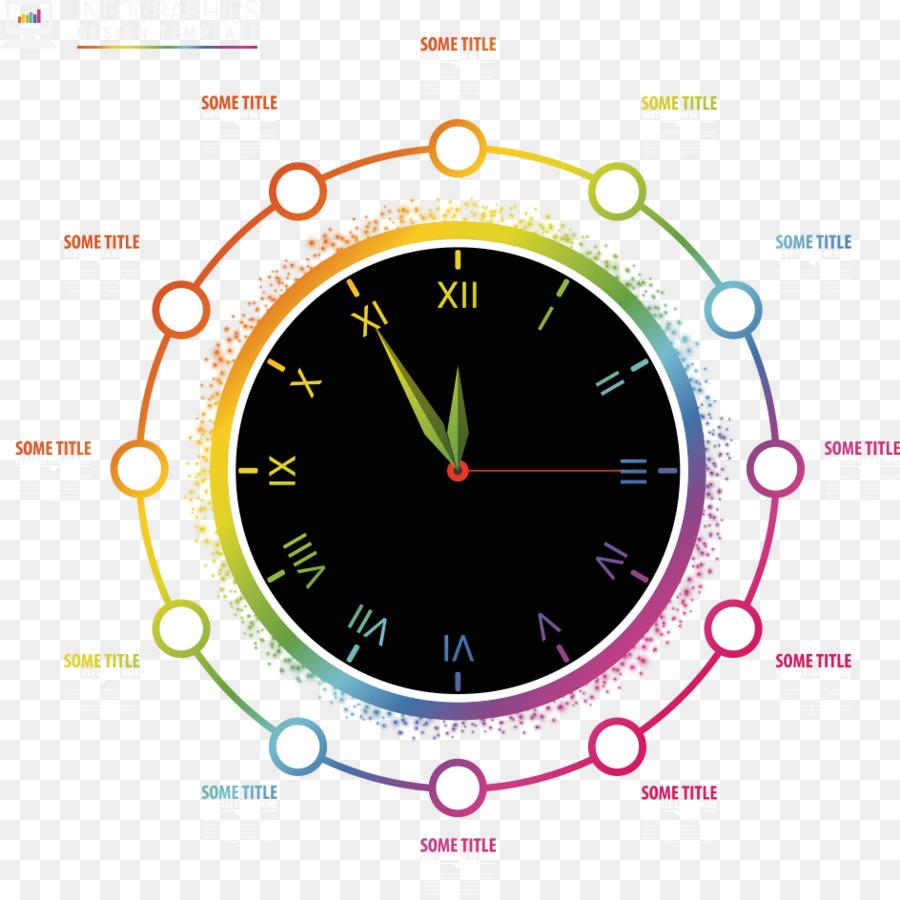 Círculo Del Reloj - Vector círculo del reloj de la información ...
