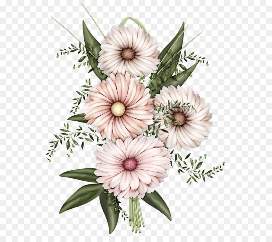 paper flower illustration four chrysanthemum
