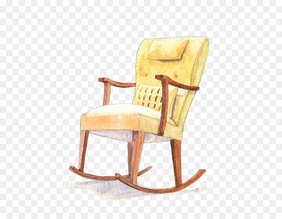Rocking Chair Yellow Computer File   Yellow Rocking Chair