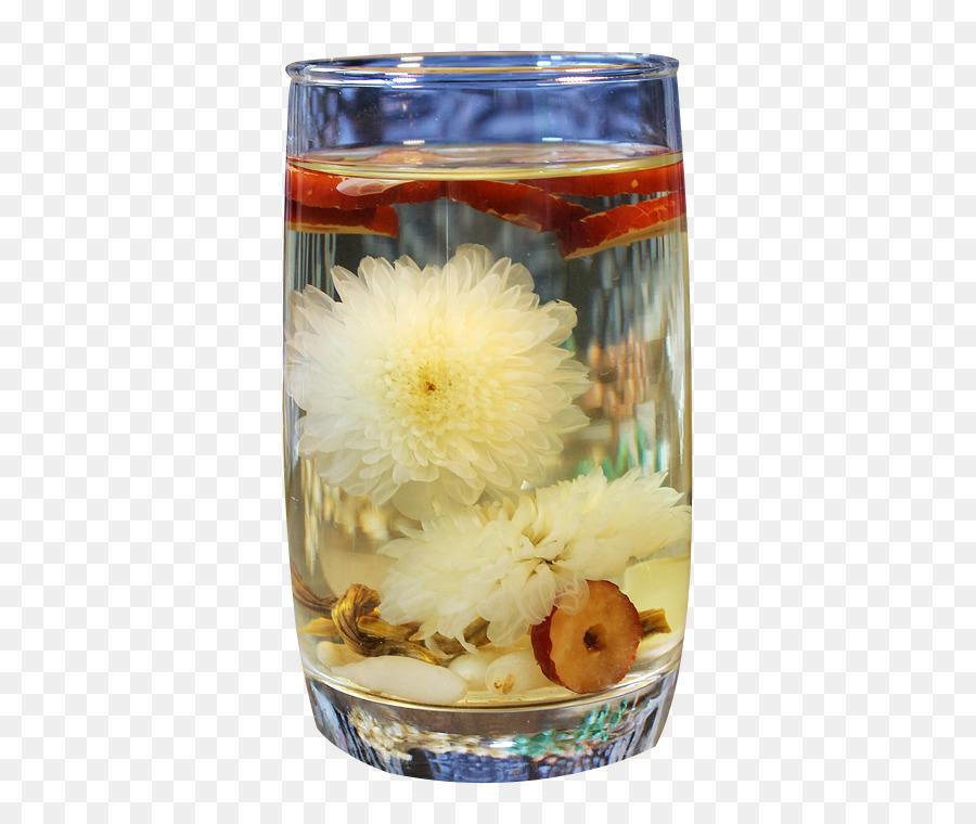 Flowering Tea Jujube Lung Drinking Lily Jujube Chrysanthemum Tea