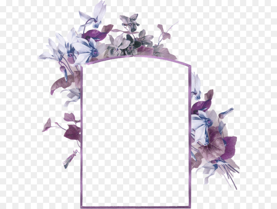 Bee Paper Picture frame Flower Business card - Purple fresh flowers ...