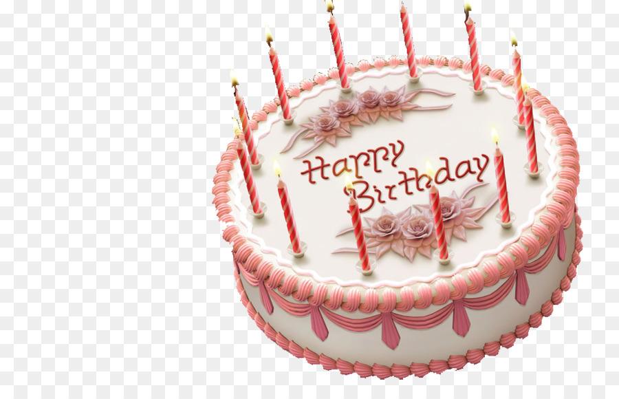 Birthday Cake Ice Cream Cake Fruitcake Chocolate Cake Pink Candles