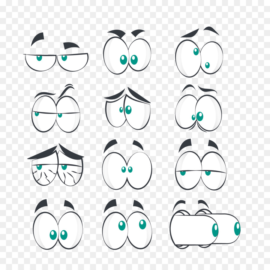 Comics Eye Cartoon Facial Expression Vector Eye Eyebrows Png
