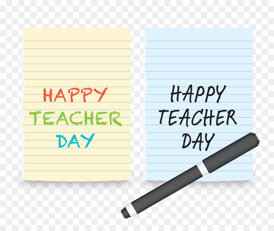 teachers day template torn notebook page png download 2492 2083