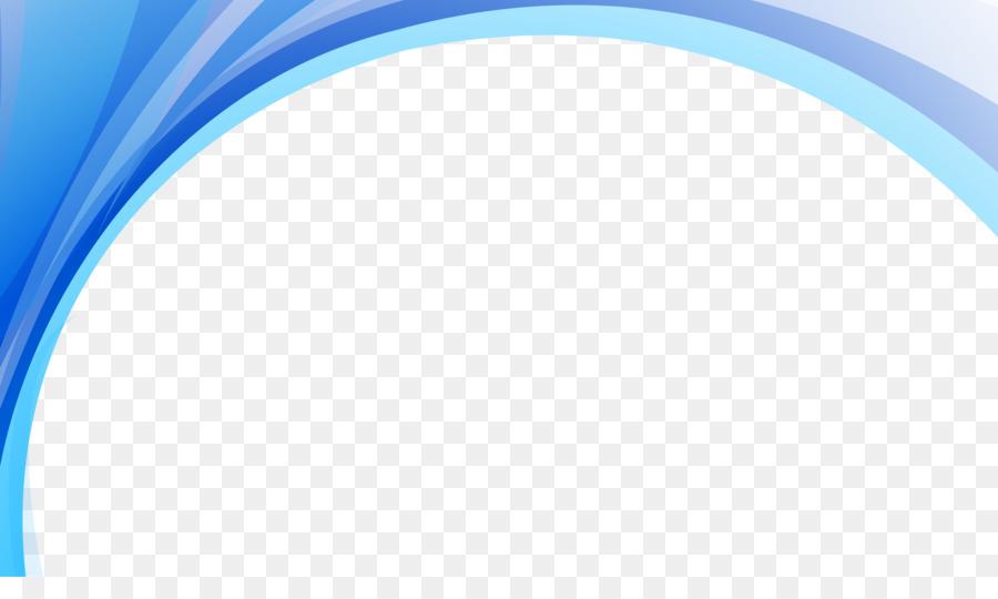Arco Azul Degradado De Líneas Onduladas