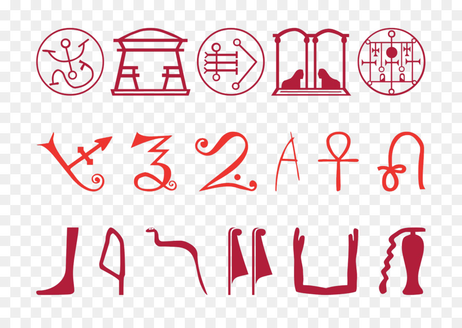 Ancient Egypt Egyptian Hieroglyphs Symbol Set Cartoon Collection
