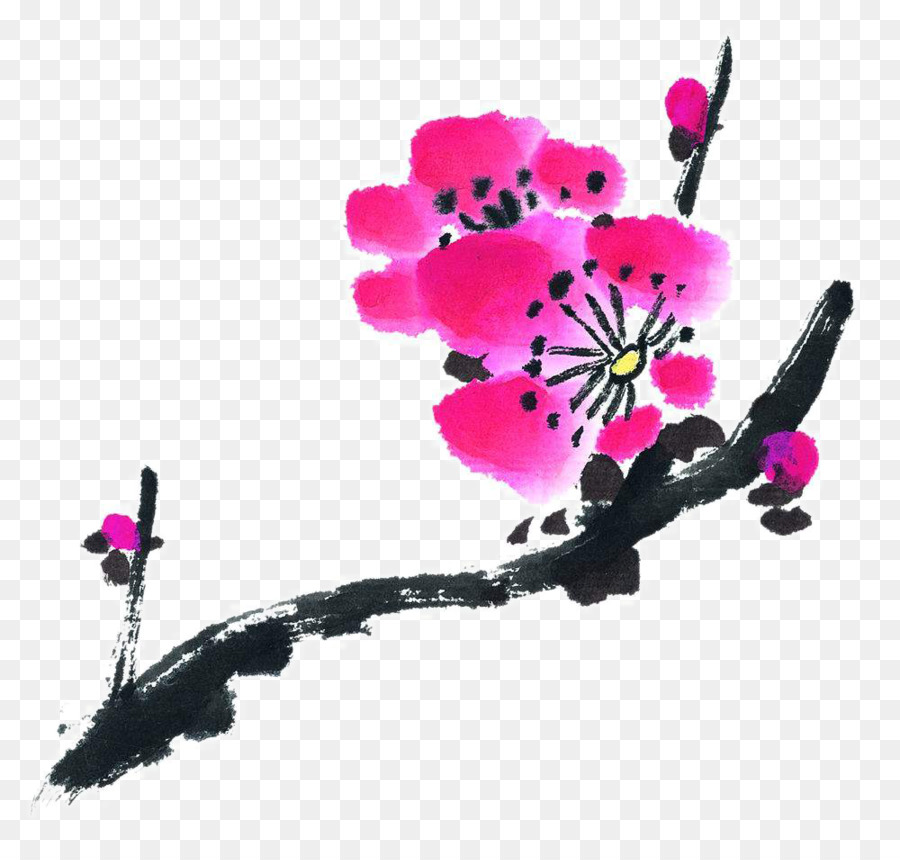 Mürekkep Yıkama Boyama çin Resim U5199u610fu753b şeftali Mürekkep