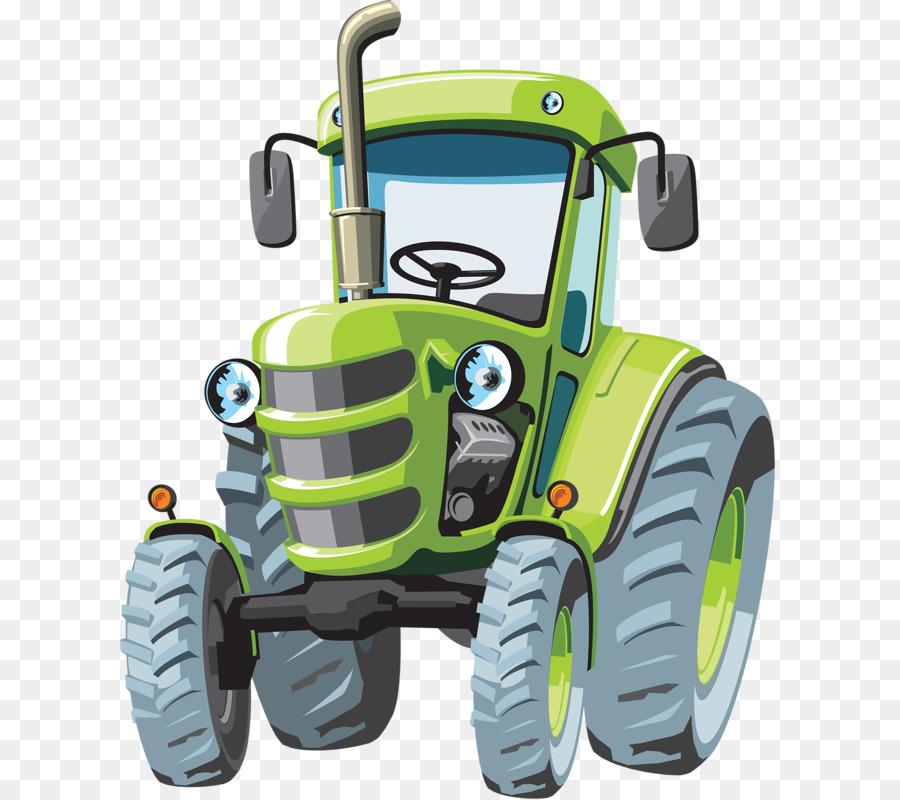 John Deere Traktor Cartoon Landwirtschaft Grüner Traktor Png