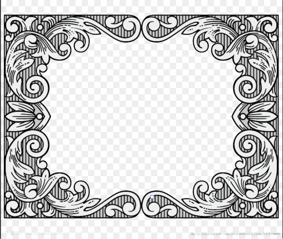 Download Black and white - Beautiful Border png download - 1024*864 ...