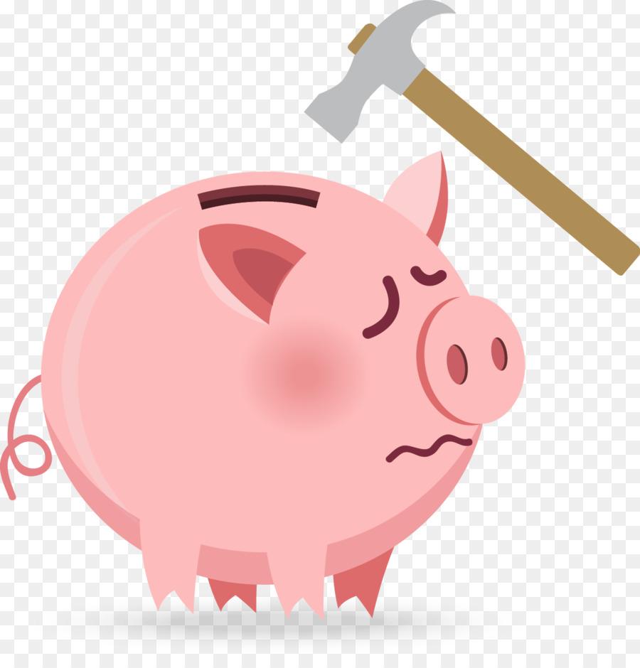 De cerdos domésticos de la hucha de la Plantilla - Rosa Cerdo ...
