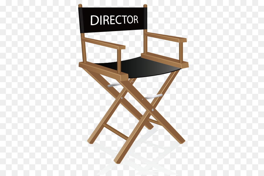 Table Directors Chair Wood Folding Chair   Vector Director Chair