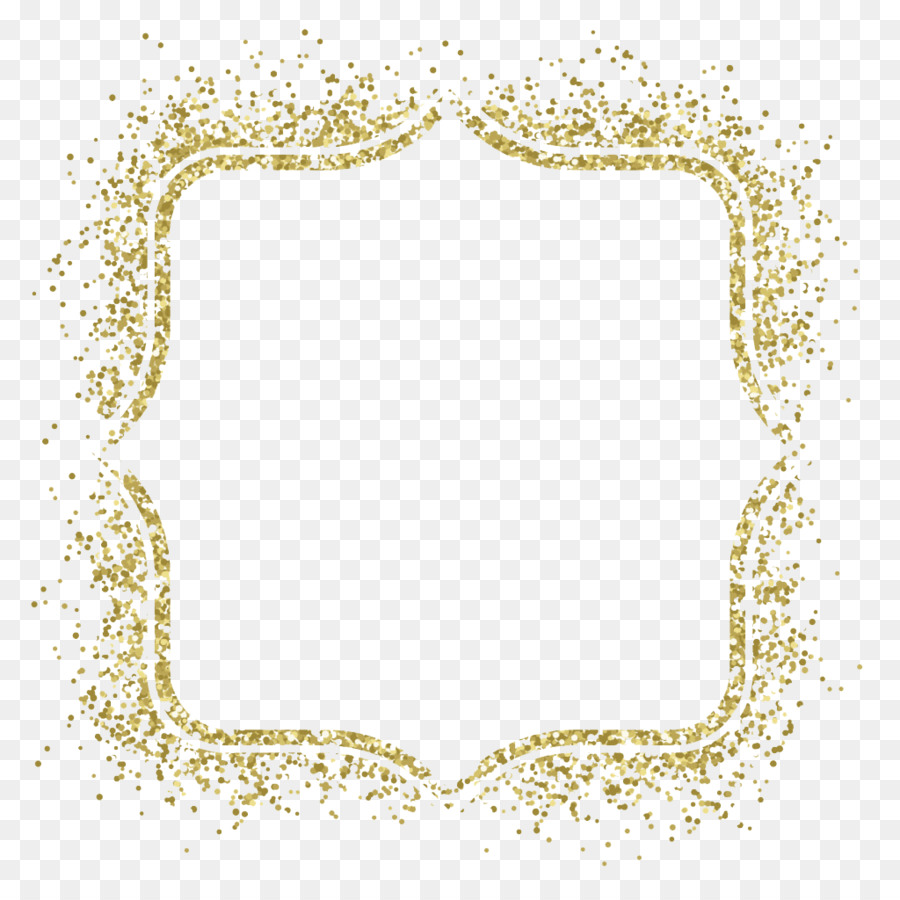 Picture frame Glitter Gold Clip art - Gold frame vector material png ...