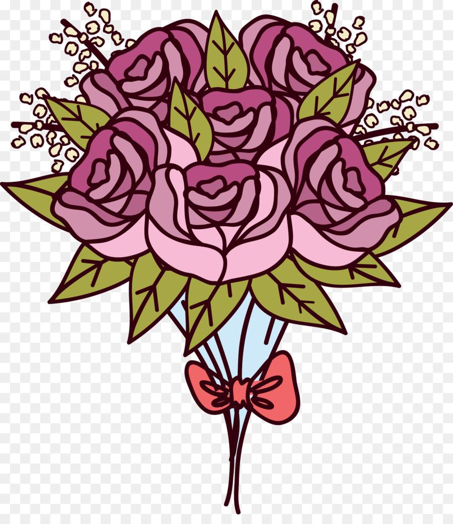 Floral Design Beach Rose Flower Bouquet Vector Bouquet Of Roses