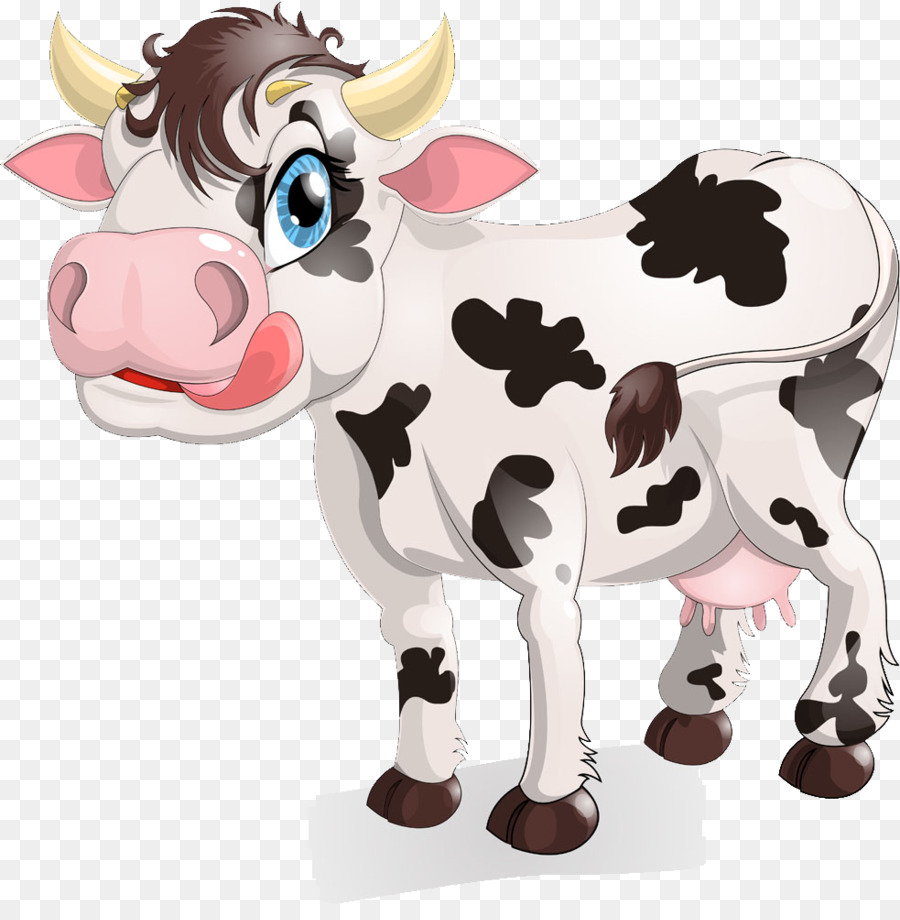 Cattle Milk Cartoon Royalty-free