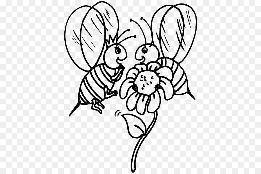 Bee Pollination Pollinator Clip art - Two little bees png download ...