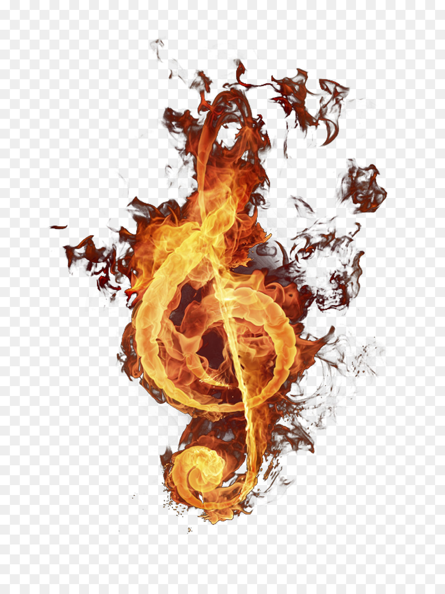 Musical Note Fire Flame Burning Musical Symbols Png Download 709