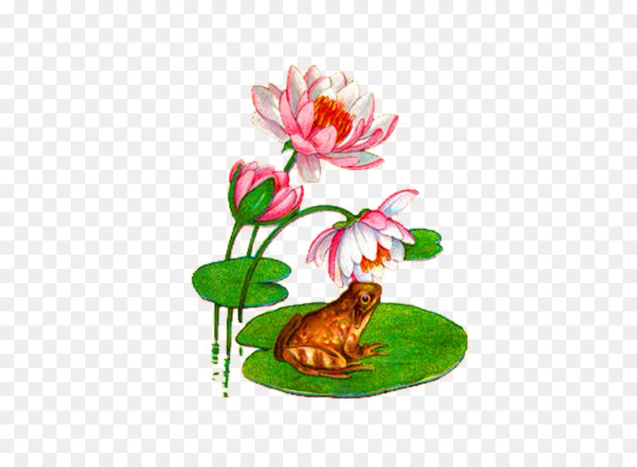 Koi Water Lily Katak Mousepad Kolam Merah Muda Teratai Sederhana