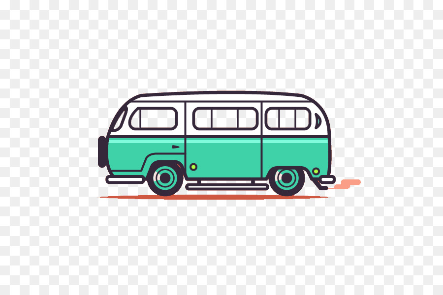 Volkswagen Type 2 Bus Cartoon Automotive Design