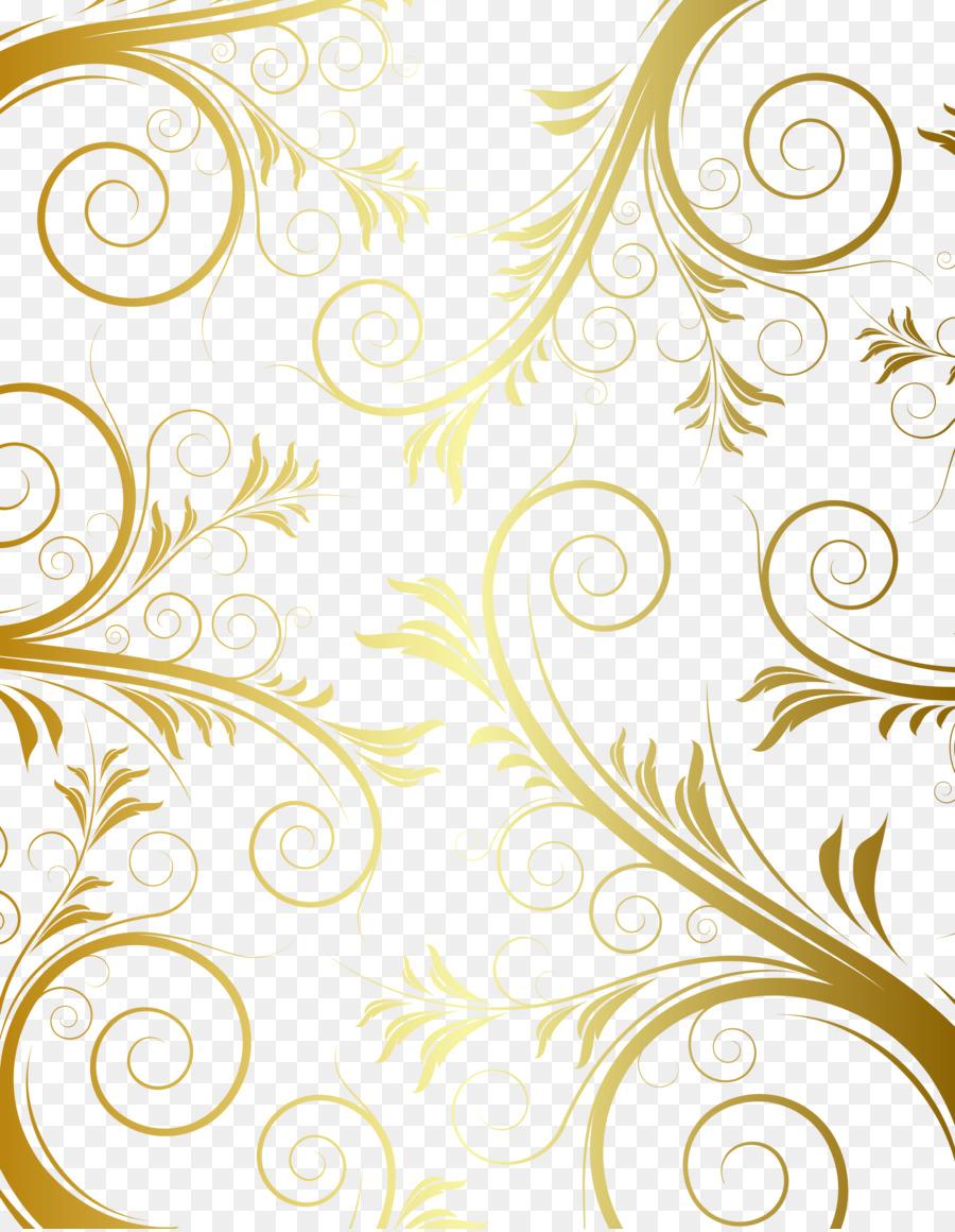 floral design gold pattern european gold border pattern