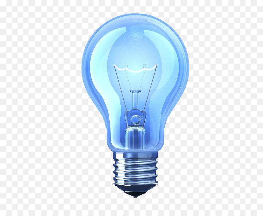 Incandescent Light Bulb Lamp Lighting Blue Light Bulb Png Download