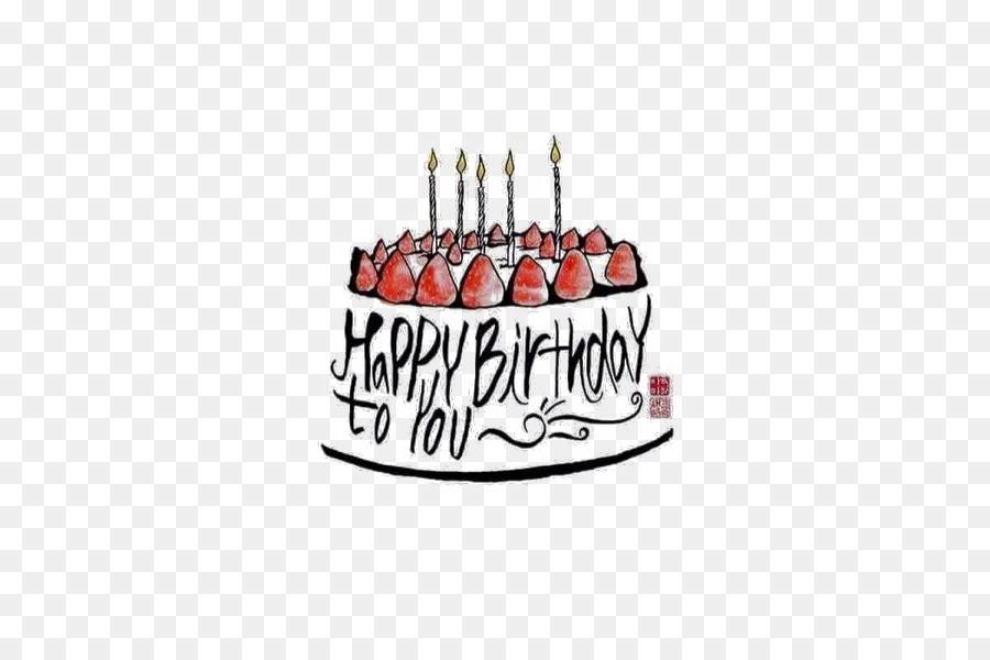 Birthday Cake Happy Birthday To You Birthday Card Typography