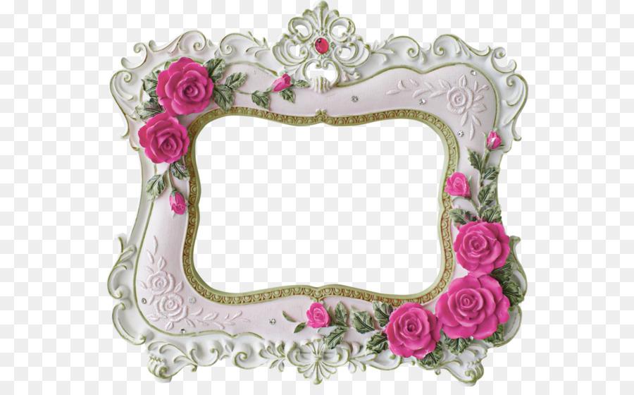 El papel de marco de Foto de Rosa Flor - Marco de la foto de la boda ...