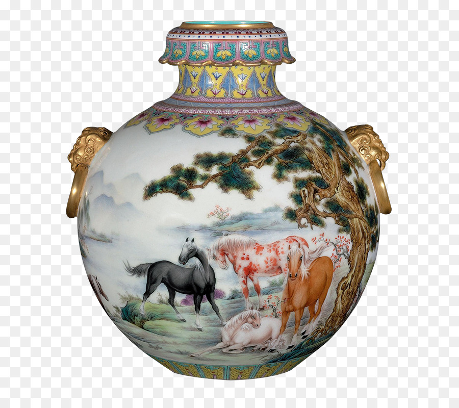 Qing Dynasty Porcelain Vase Chinese Ceramics Falangcai Exquisite