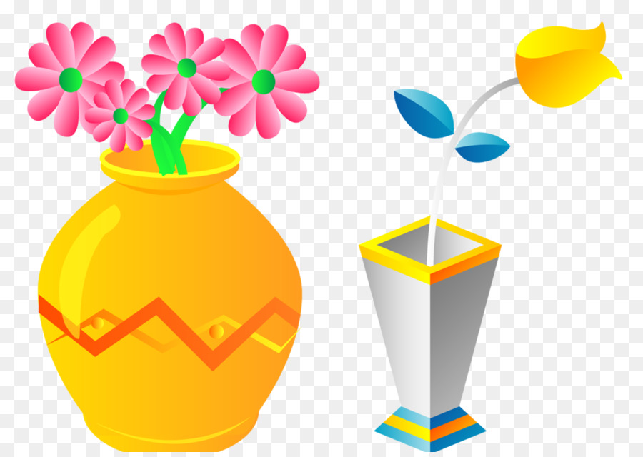 Flowerpot Cartoon Clip Art Beautiful Vase Png Download 30712159