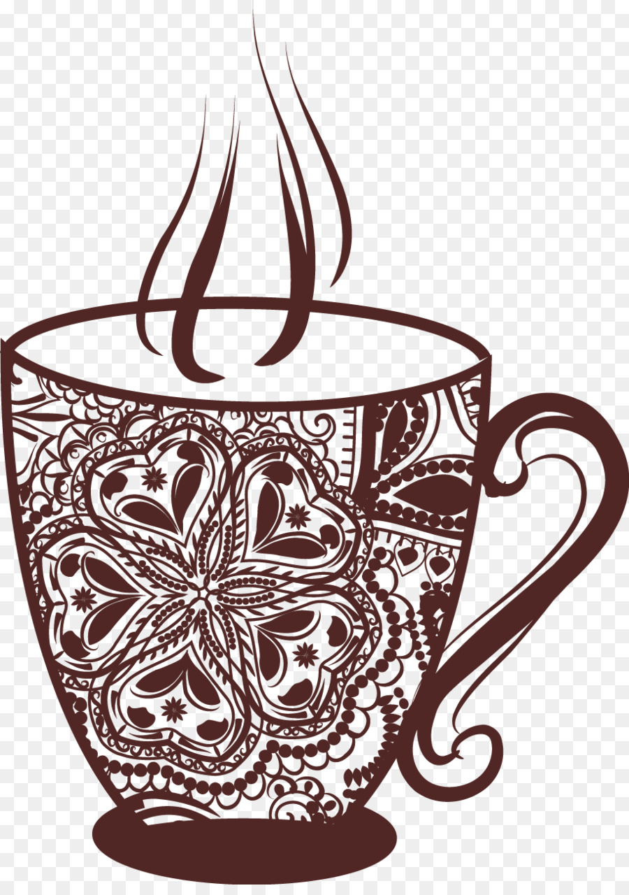 Coffee cup tea cafe vintage coffee cup png download 914*1285.