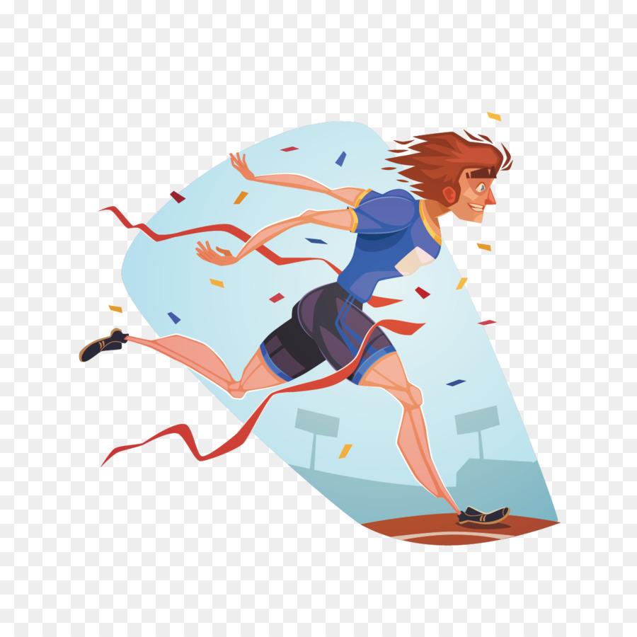Sport Running Drawing Illustration