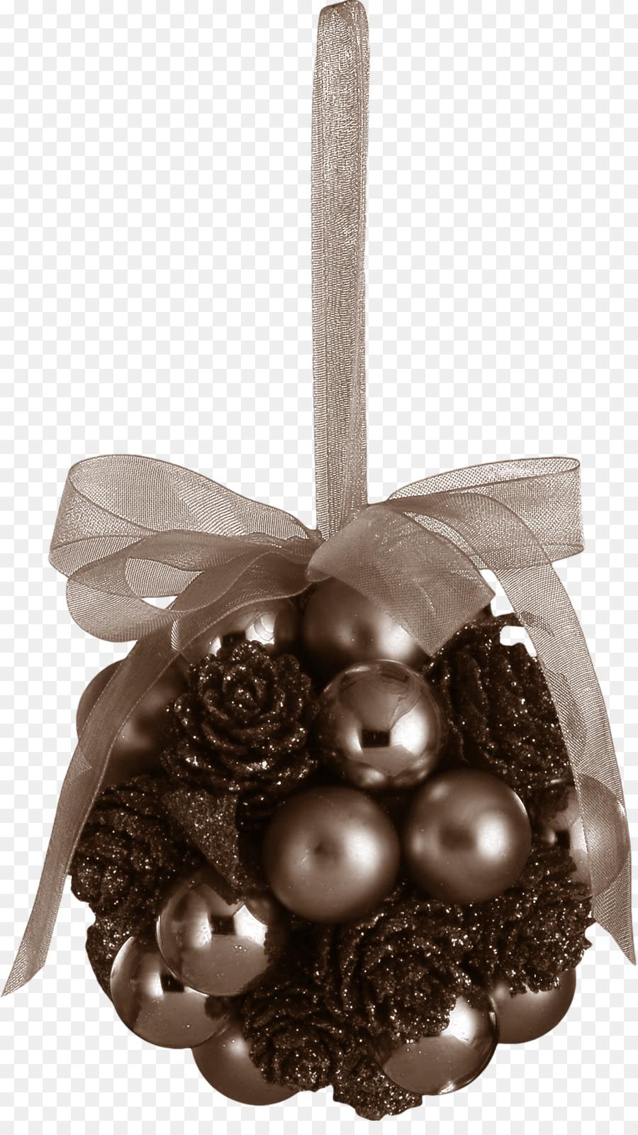 Christmas ornament Ball Kiss Ribbon - Bow decoration ball png ...