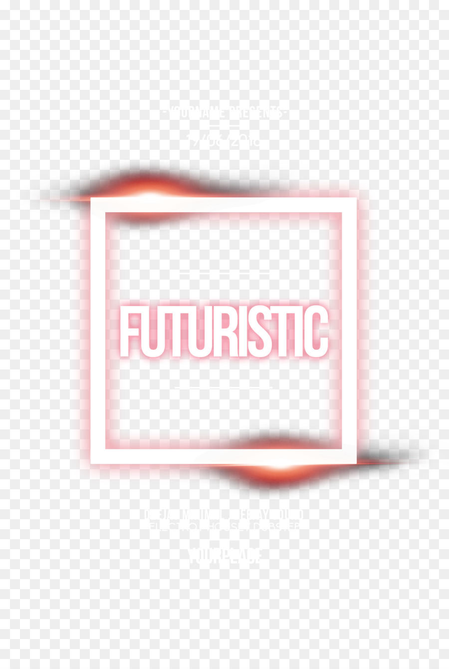 English light emitting poster fonts png download - 1275*1875 - Free
